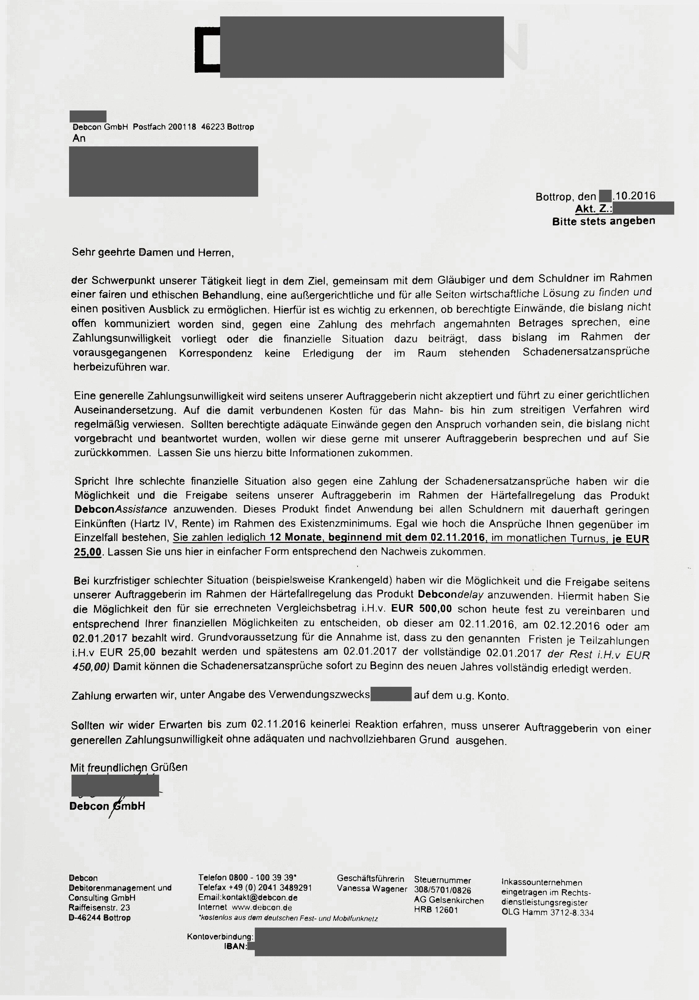 Forderungen Von Der Debcon Gmbh Chmiel Consulting Seite 164